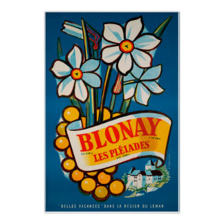 Blonay, Les Pléiades,Switzerland,Travel Poster