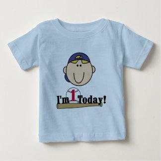 Blond Boy Baseball 1st Birthday Tshirts