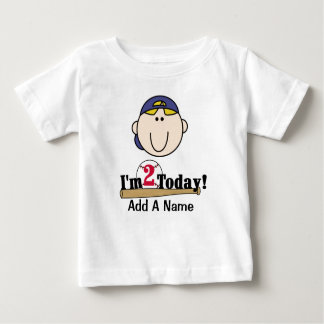 Blond Boy Baseball 2nd Birthday T-shirt