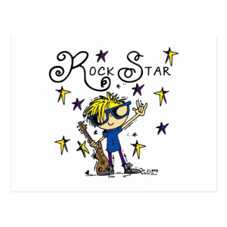 Blond Boy Rock Star Postcard