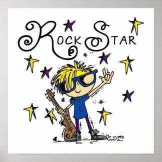 Blond Boy Rock Star Print