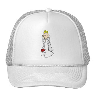 Blond Bride Stick Figure Hat