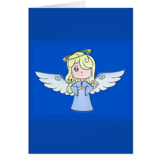 Blond Cartoon Angel Card