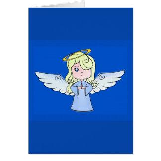 Blond Cartoon Angel Greeting Card