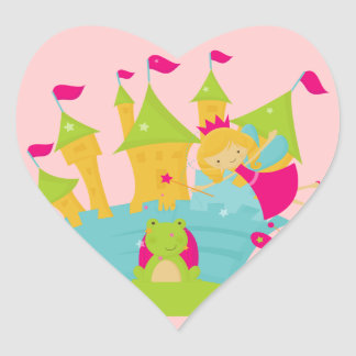 Blond Fairy Princess Heart Stickers