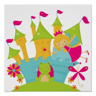 Blond Fairy Princess Poster