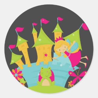Blond Fairy Princess Round Sticker