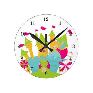Blond Fairy Princess Wall Clock