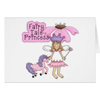 Blond Fairy Tale Princess Greeting Card