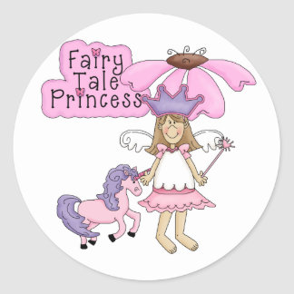 Blond Fairy Tale Princess Classic Round Sticker