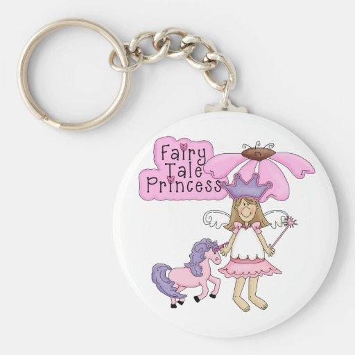 Blond Fairy Tale Princess Keychain