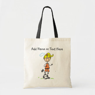 Blond Female Soccer Player  Bag