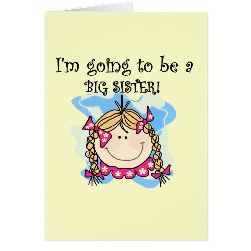 Blond Future Big Sister Tshirts and Gifts Greeting Cards