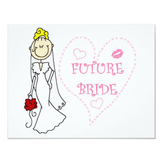 Blond Future Bride T-shirts and Gifts 11 Cm X 14 Cm Invitation Card