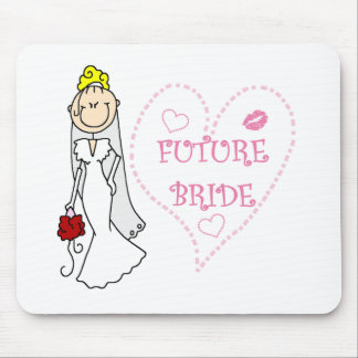 Blond Future Bride T-shirts and Gifts Mousepads