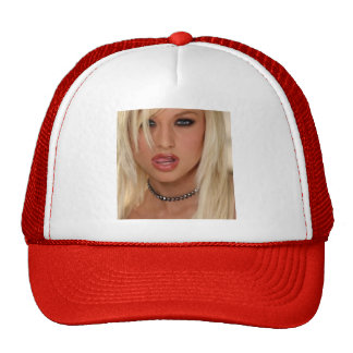 blond girl baseball cap