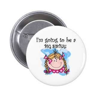 Blond Girl Future Big Sister Pinback Buttons