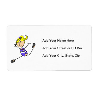 Blond Girl Gymnast Shipping Label