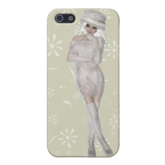 Blond Girl iPhone 5/5S Matte Finish Case Case For iPhone 5/5S