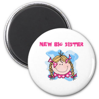Blond Girl New Big Sister 6 Cm Round Magnet