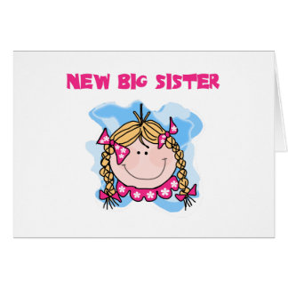 Blond Girl New Big Sister Greeting Cards