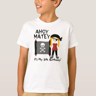 Blond Girl Party Like a Pirate Custom Tshirt