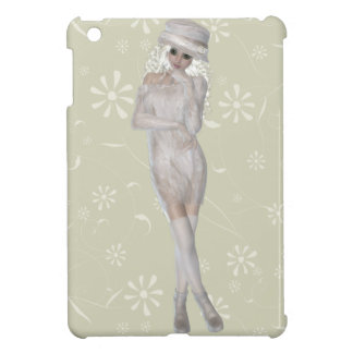 Blond Girl  Savvy Glossy Beige iPad Mini Case