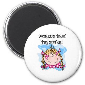 Blond Girl World s Best Big Sister Magnet