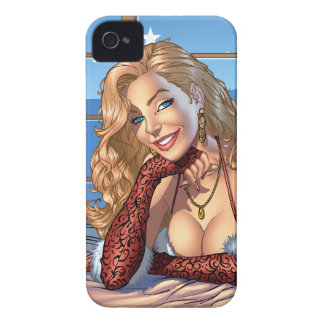 Blond Hair, Blue Eyed Beauty Illustration - Al Rio iPhone 4 Covers