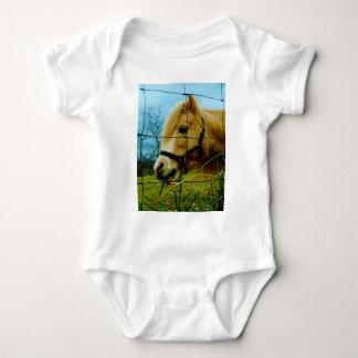 Blond Miniature Pony / Horse Blue Sky Tshirts