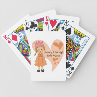 Blond Mommy and Daddy's Princess Bicycle Card Deck
