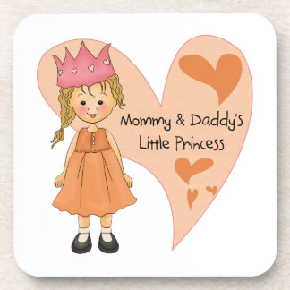 Blond Mommy and Daddy's Princess Coasters