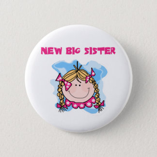 Blond New Big Sister Tshirts and Gifts 6 Cm Round Badge
