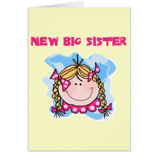 Blond New Big Sister Tshirts and Gifts Greeting Card