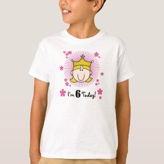 Blond Princess 6th Birthday T-Shirt