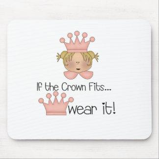 Blond Princess Crown Fits Mouse Mats