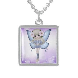 Blond Princess Square Necklace
