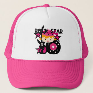 Blond Rock Star Girl Trucker Hat