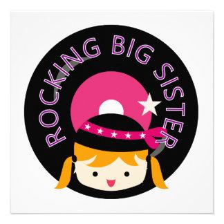 Blond Rocking Big Sister Invite