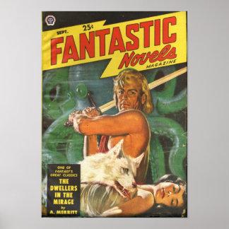 Blond Swordsman Poster