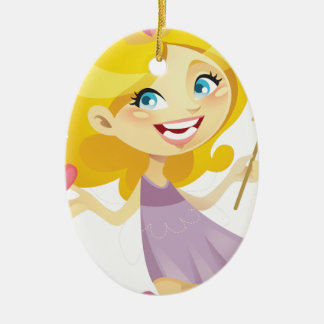 Blond Toothfairy From Pomegranate Ink Ceramic Oval Decoration