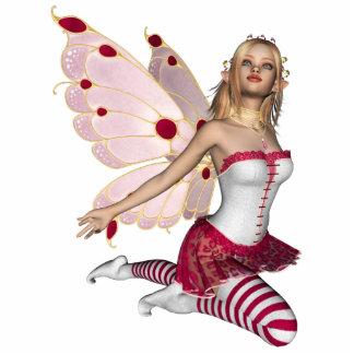 Blond Valentine Fairy - Pink 1 Standing Photo Sculpture