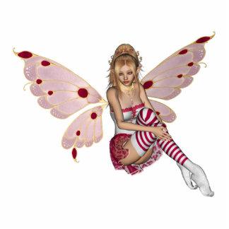Blond Valentine Fairy - Pink 2 Photo Sculptures