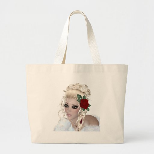 Blond Woman Tote Bags