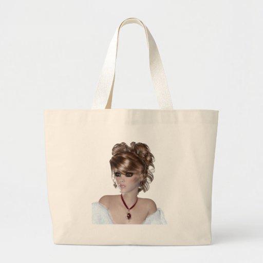 Blond Woman Canvas Bag