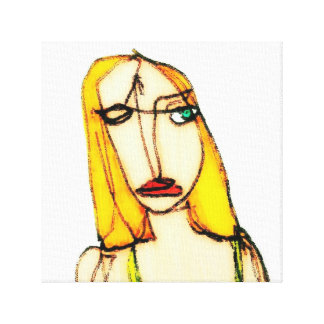 Blond woman gallery wrapped canvas