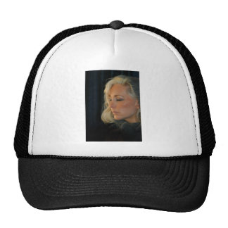 Blond Woman Relaxing Cap