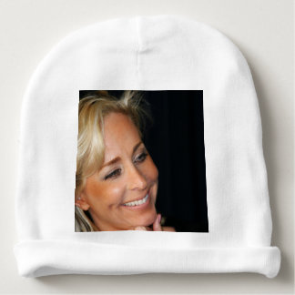 Blond Woman Smiling Baby Beanie