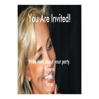 Blond Woman Smiling Magnetic Invitations