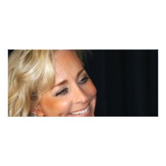 Blond Woman Smiling Rack Card Design